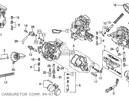 Honda Vfr750f 1994 Usa parts list partsmanual partsfiche