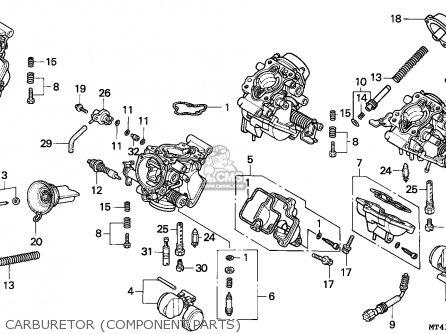 Honda Vfr750f 1995 England parts list partsmanual partsfiche