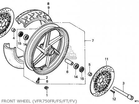 Honda Vfr750f 1995 (s) England parts list partsmanual
