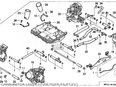 Honda Vfr750f 1995 (s) France parts list partsmanual