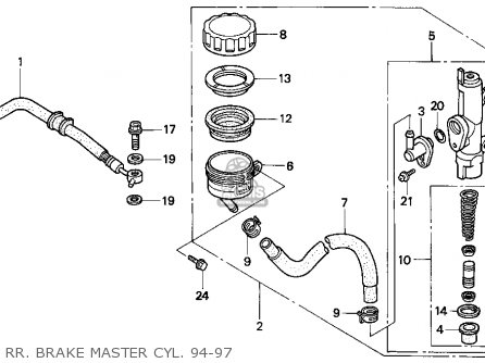 Honda VFR750F 1995 (S) USA parts lists and schematics