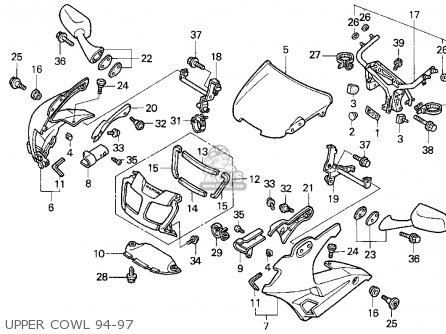 Honda Vfr750f 1995 Usa parts list partsmanual partsfiche