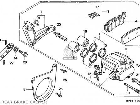 Honda VFR750F 1996 (T) FRANCE parts lists and schematics