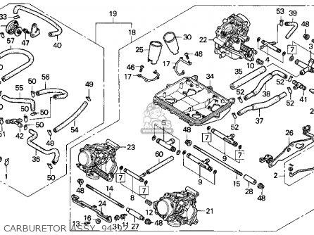 Honda Vfr750f 1996 (t) Usa California parts list