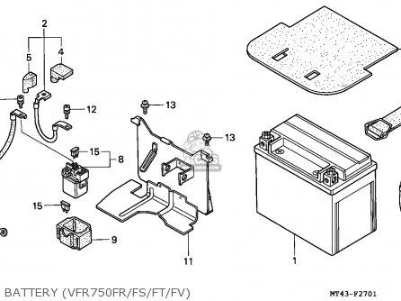 Honda Vfr750f 1997 (v) Germany parts list partsmanual