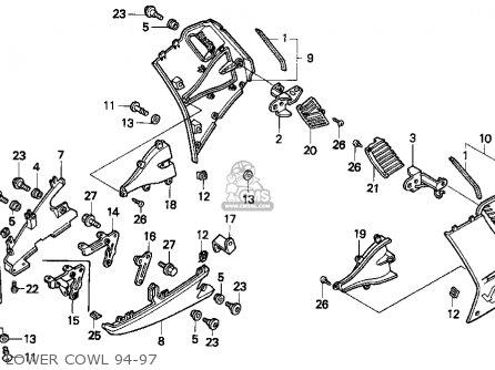 Honda VFR750F 1997 (V) USA CALIFORNIA parts lists and