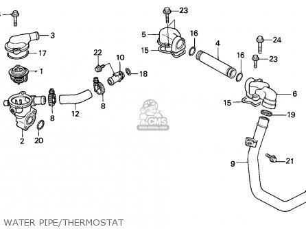 Honda VFR750F INTERCEPTOR 1986 (G) FRANCE / KPH YB parts