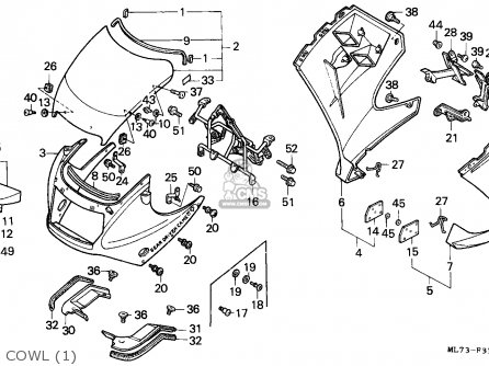 Honda VFR750F INTERCEPTOR 1986 (G) SWEDEN / KMH parts