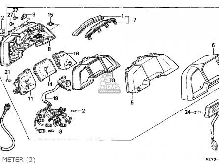 Honda Vfr750f Interceptor 1988 (j) Austria / Kph Ref parts