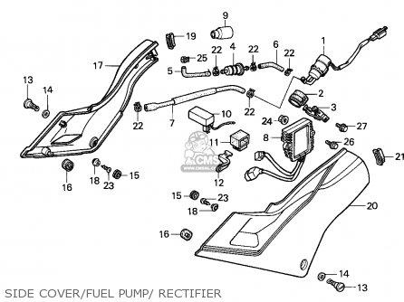 Honda VFR750F INTERCEPTOR 1989 (K) ENGLAND / MKH parts