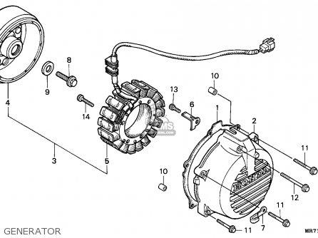 Honda Vfr750r Rc30 1988 (j) Australia parts list