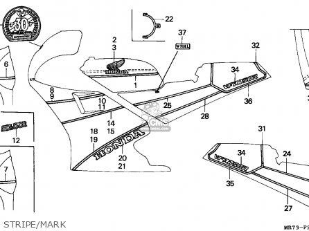 Honda VFR750R RC30 1988 (J) AUSTRALIA parts lists and