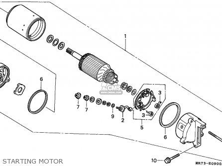 Honda Vfr750r Rc30 1988 (j) Canada parts list partsmanual