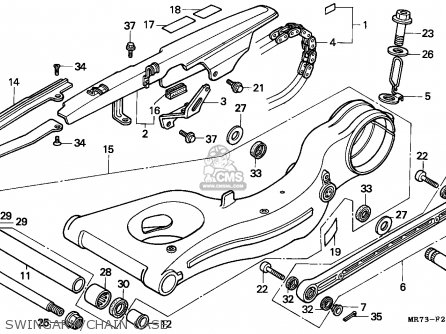 Honda VFR750R RC30 1988 (J) FRANCE / YB parts lists and