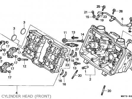 Honda Vfr750r Rc30 1988 (j) Italy parts list partsmanual
