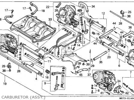 Honda Vfr750r Rc30 1989 Italy parts list partsmanual