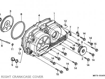 Honda Vfr750r Rc30 1989 (k) Germany parts list partsmanual