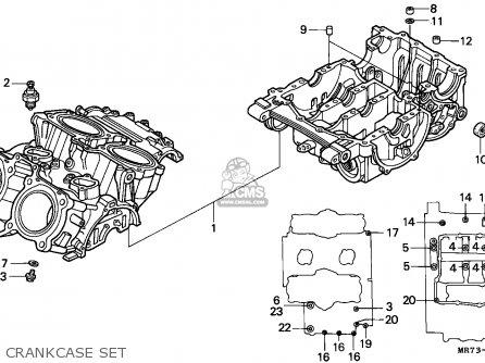 Honda VFR750R RC30 1989 (K) ITALY parts lists and schematics