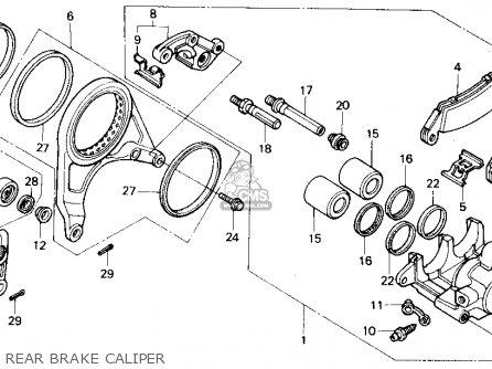 Honda Vfr750r Rc30 1990 (l) Usa California parts list