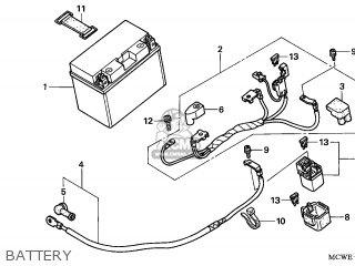 Honda VFR800 2008 (8) ENGLAND parts lists and schematics