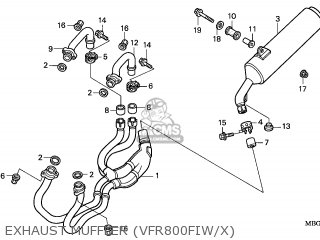 Honda Vfr800fi 1999 France parts list partsmanual partsfiche