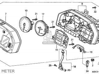 Honda VFR800FI 2000 (Y) ENGLAND parts lists and schematics
