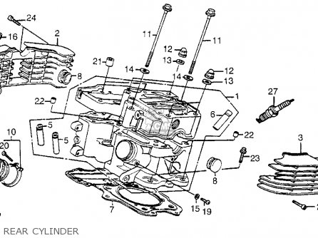 Honda Vt1100c Shadow 1100 1985 (f) Usa parts list