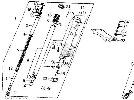 Honda Vt1100c Shadow 1100 1986 Usa Rear Shock Absorber
