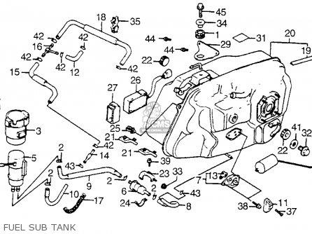 Honda Vt1100c Shadow 1100 1986 Usa parts list partsmanual