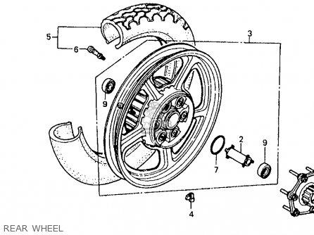 Honda Vt1100c Shadow 1100 1987 (h) Usa California parts