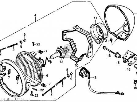 Honda Vt1100c Shadow 1100 1988 Usa parts list partsmanual