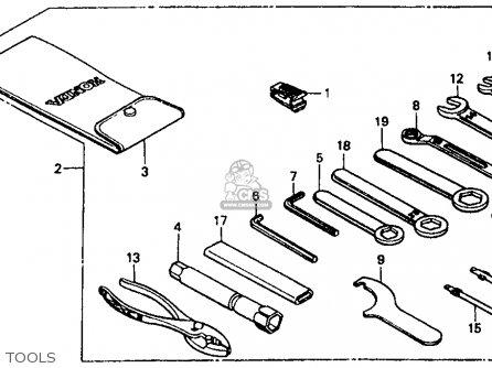 Honda Vt1100c Shadow 1100 1989 (k) Usa parts list