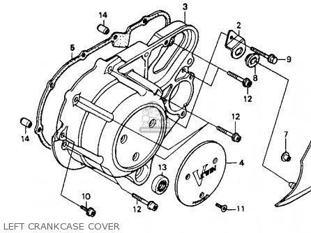 Honda Vt1100c Shadow 1100 1989 Usa parts list partsmanual