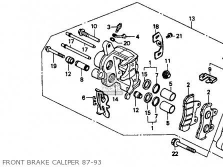 Honda Vt1100c Shadow 1100 1993 Usa Front Brake Caliper 87