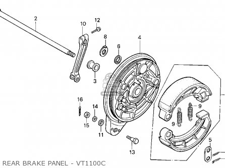 Honda Vt1100c Shadow 1100 1995 (s) Usa California parts