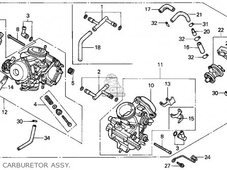 Honda Vt1100c Shadow 1100 1995 Usa parts list partsmanual