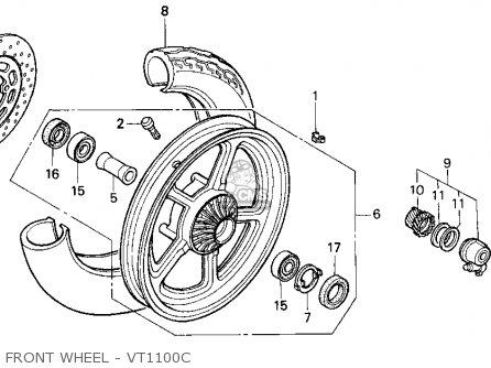 Honda Vt1100c Shadow 1100 1995 Usa parts list partsmanual