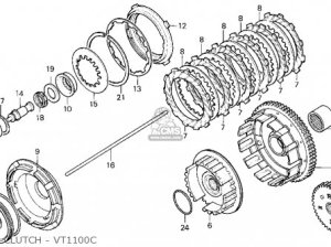 Honda Vt1100c Shadow 1100 1996 (t) Usa California parts list partsmanual partsfiche