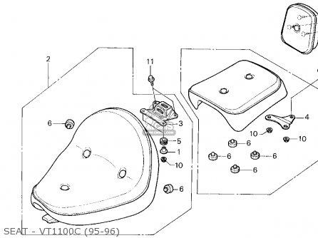 Honda Vt1100c2 Shadow 1100 1996 Usa Seat Vt1100c2 95 97