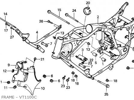 Honda VT1100C SHADOW 1100 1997 (V) USA CALIFORNIA parts