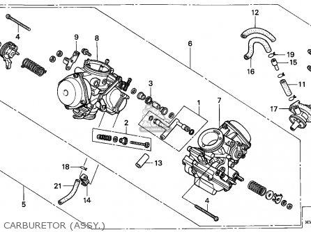 Honda Vt1100c Shadow 1987 Canada / Kph parts list