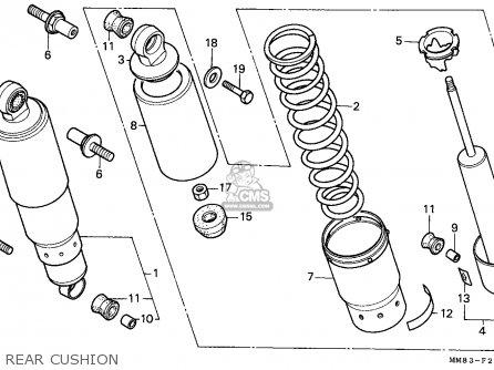 Honda Vt1100c Shadow 1987 (h) Canada / Kph parts list