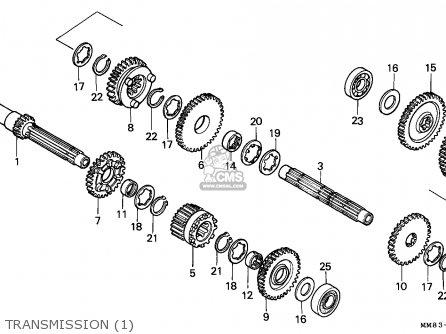 Honda VT1100C SHADOW 1987 (H) CANADA / KPH parts lists and