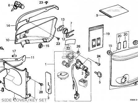 Honda VT1100C SHADOW 1993 (P) CANADA parts lists and