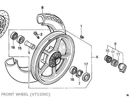 Honda Vt1100c Shadow 1995 Germany parts list partsmanual