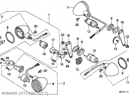 Honda VT1100C SHADOW 1995 (S) CANADA / RBM parts lists and