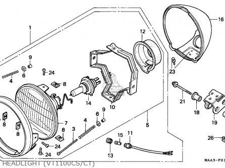 Honda VT1100C SHADOW 1995 (S) FRANCE parts lists and