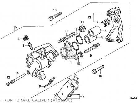 Honda Vt1100c Shadow 1995 (s) Spain / Rbm parts list