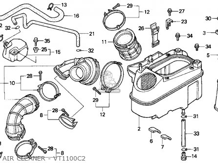 Honda Vt1100c2 Shadow 1100 1996 Usa parts list partsmanual