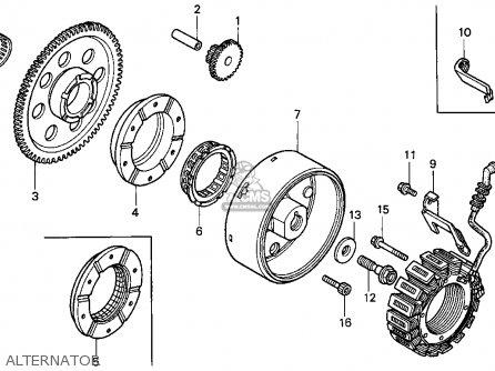 Honda Vt1100c2 Shadow 1100 1996 Usa parts list partsmanual